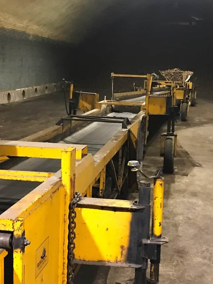 the processing machine the at potato storage unit