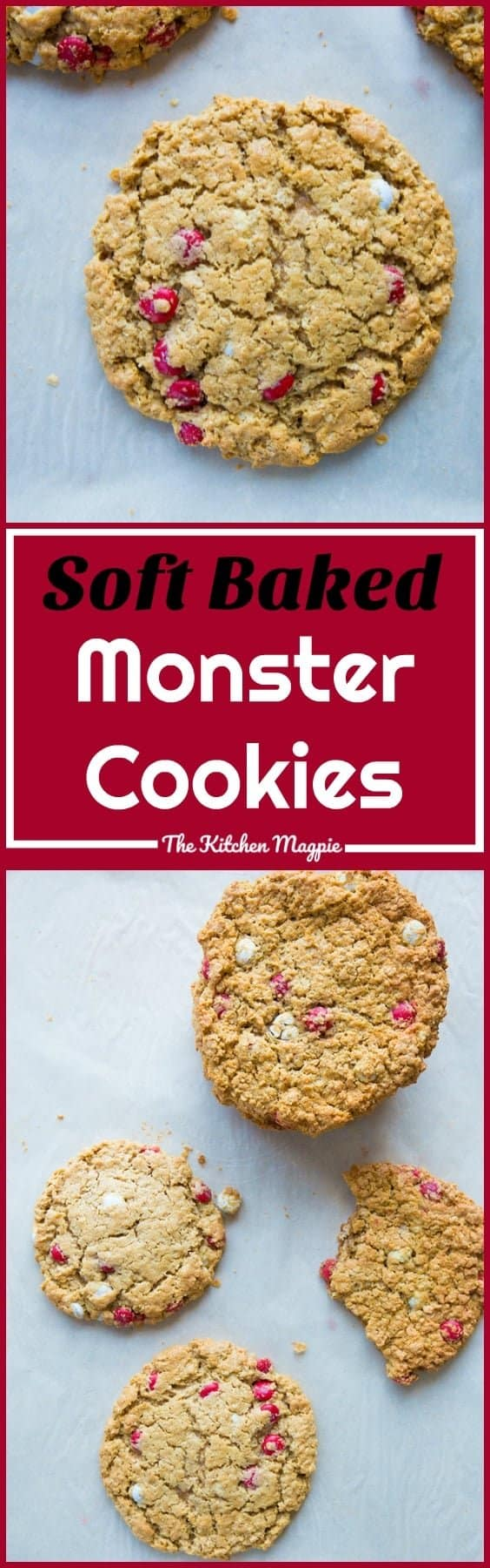 The BEST Soft Baked Monster Cookies - Gluten Free! from @kitchenmagpie