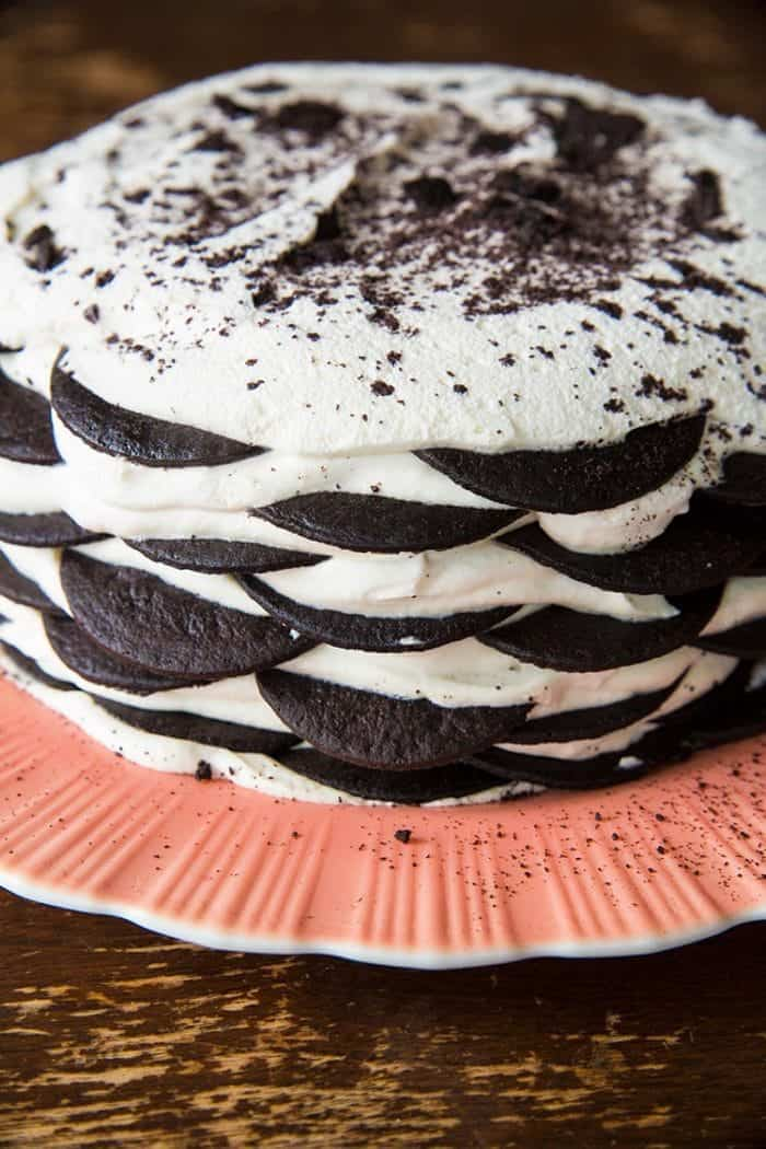 Icebox Cake - Nabisco Famous chocolate wafer cookies and whipped cream