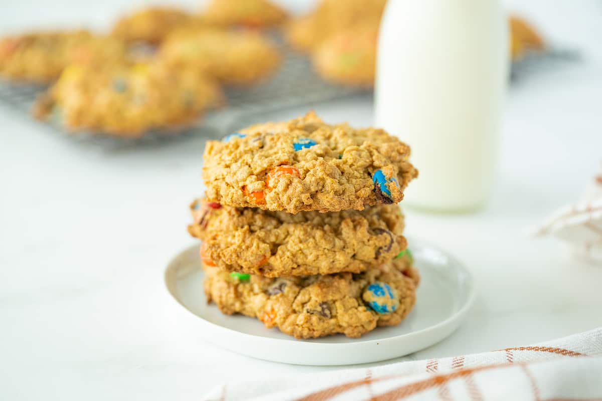 Three Pieces Soft Baked Monster Cookies