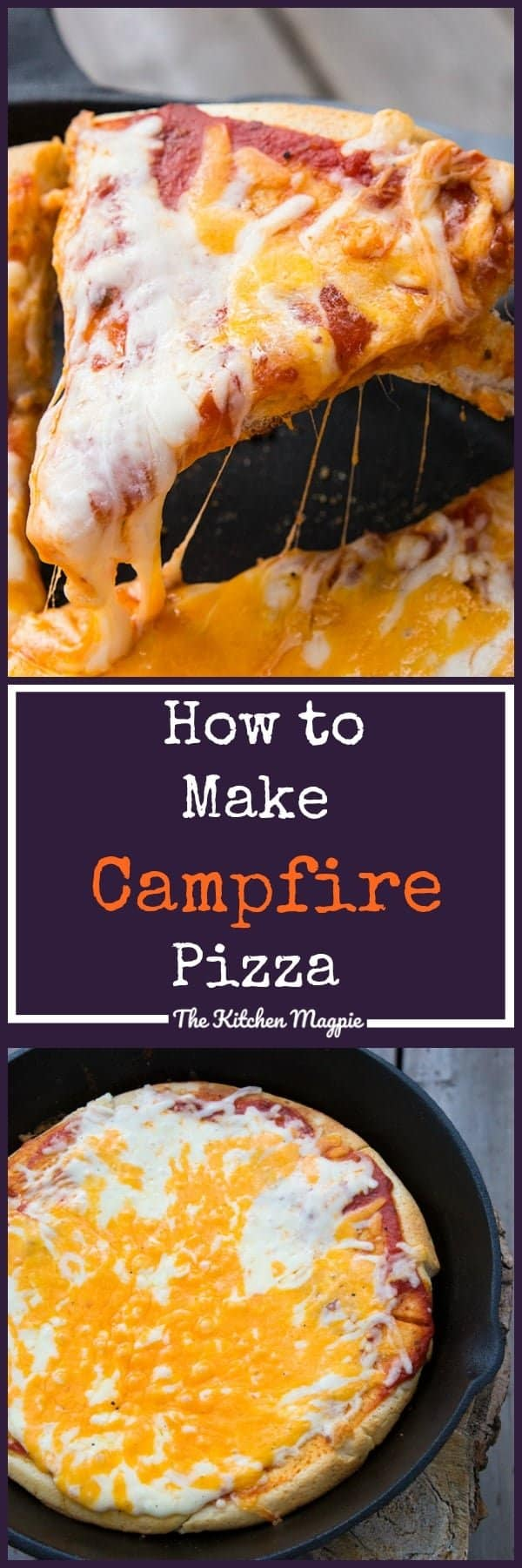 How to Make Campfire Pizza, AKA how I keep my sanity while camping with children that are picky eaters! I'm pretty sure that my kids can now get their own apartments, because they now know How to Make Campfire Pizza! Freedom, here I come!