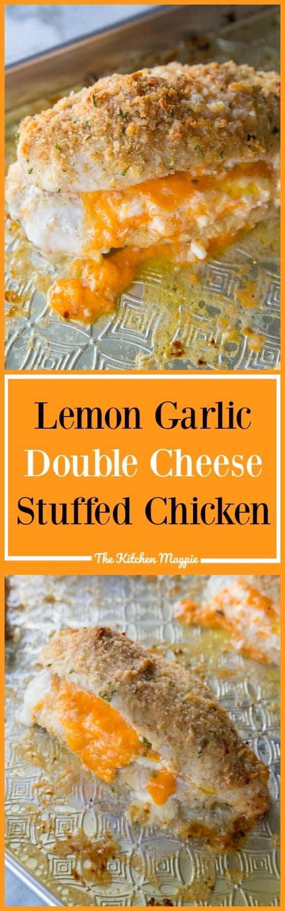 Lemon Garlic Double Cheese Stuffed Chicken From @thekitchenmagpie