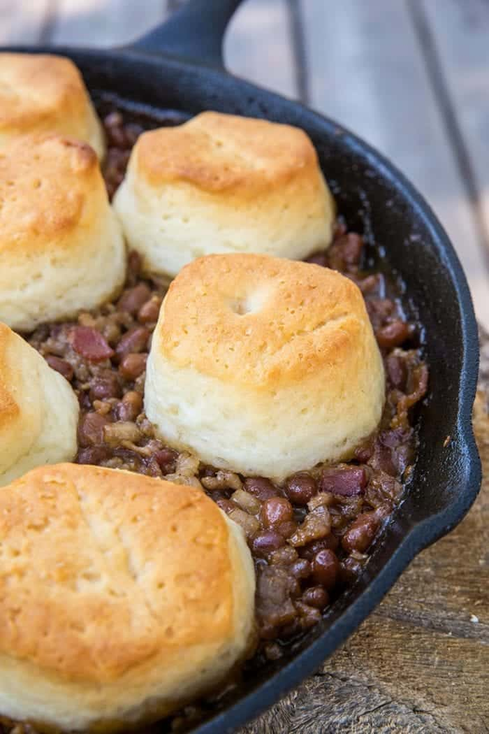 This delicious Pork & Beans Cowboy Casserole is bound to be a new family favourite for camping OR at home! From @kitchenmagpie