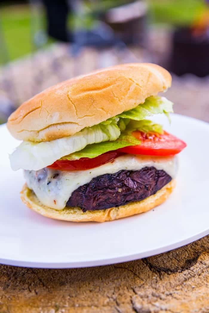 These Homemade Portobello Mushroom Burgers are so much better than any restaurant! The secret is a good marinade - overnight! I can't believe that it's taken me this long to make homemade portobello mushroom burgers - I LOVE mushrooms