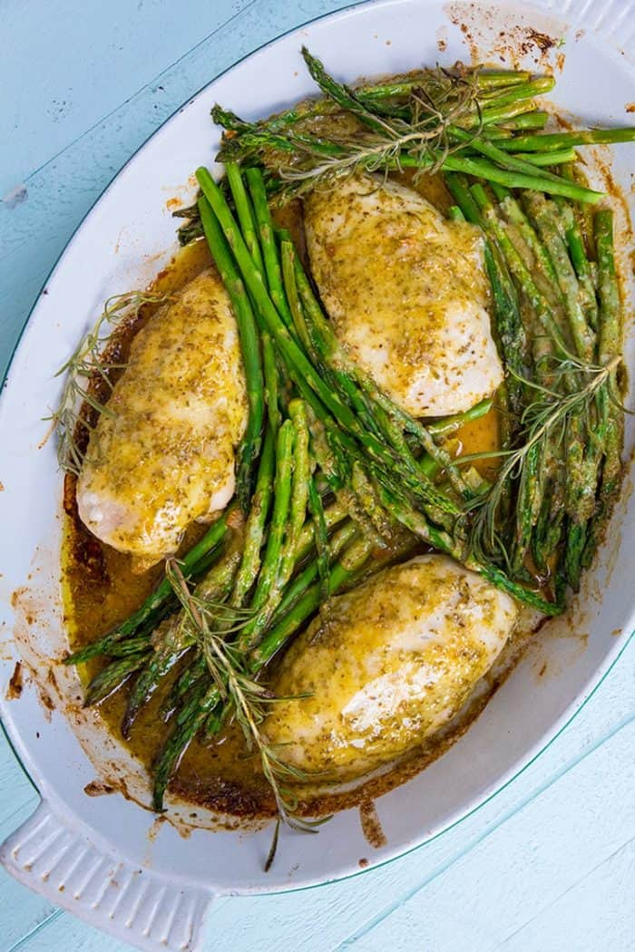 Rosemary Lemon Chicken & Asparagus Dinner