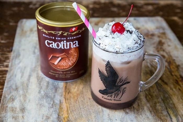 Spiked Chocolate Iced Coffee with Caotina and Kahlua that's UNDER 300 calories! from @kitchenmagpie