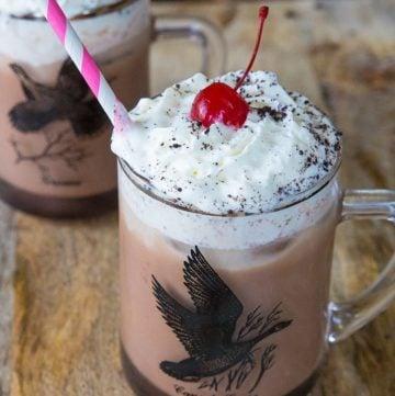 Spiked Chocolate Iced Coffee