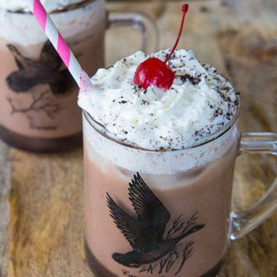 Spiked Chocolate Iced Coffee