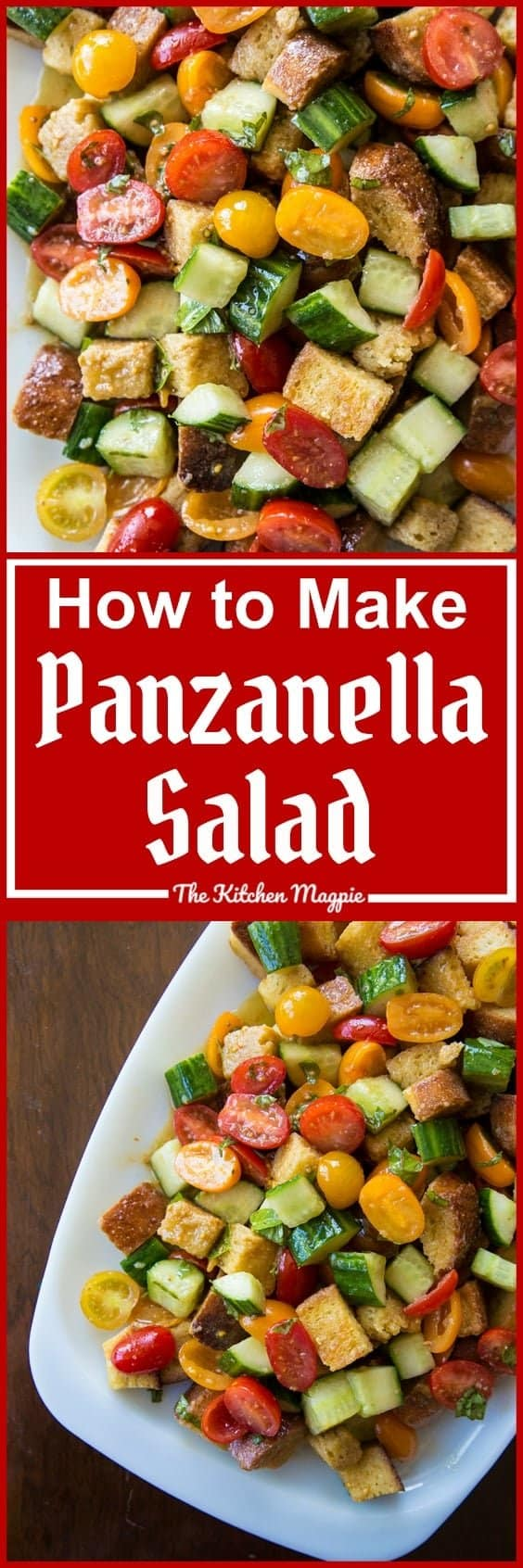 Summer Tomatoes Panzanella Salad from @kitchenmagpie