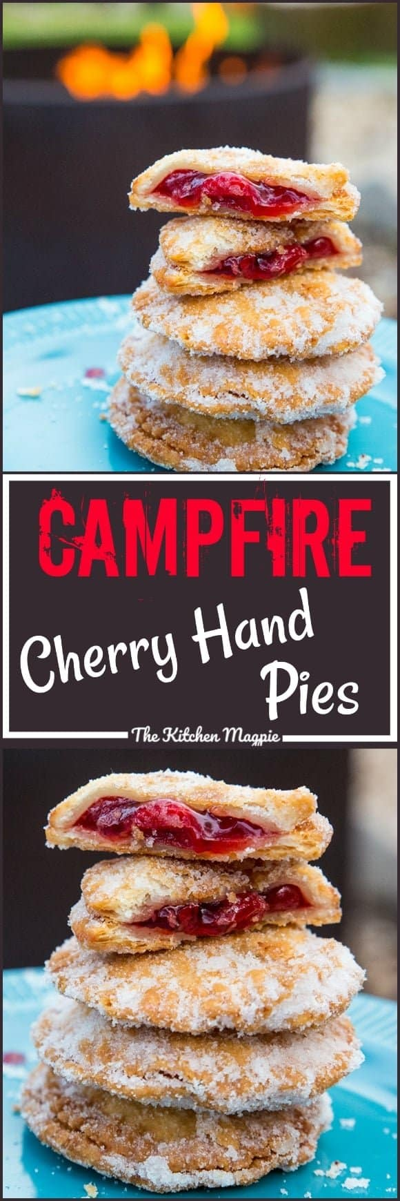 Campfire Cherry Hand Pies....do I have you intrigued? These little delights were made while camping, they are THAT easy!