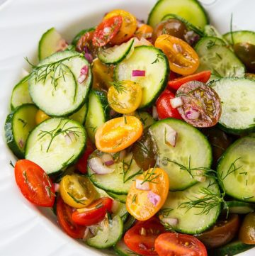 Cucumber Salad with Tomato and Dill