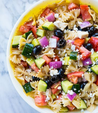 Fast & Easy Greek Pasta Salad