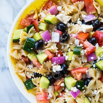 Fast & Easy Greek Pasta Salad