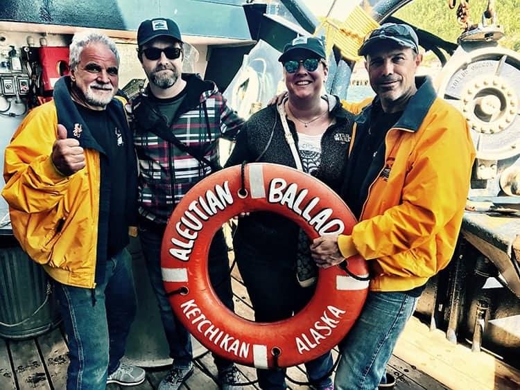 souvenir photo with the guides at the Bering Sea Crab Fishermen's Tour, Ketchikan, Alaska
