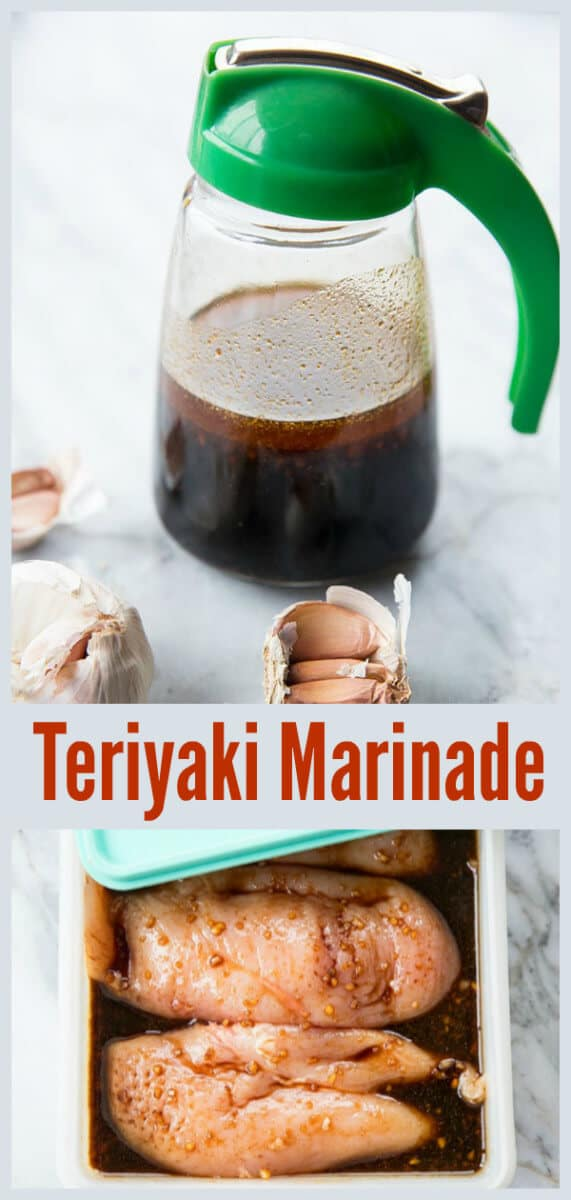 The BEST Teriyaki Marinade Recipe! This marinade recipe has a few ingredients that make this the best Teriyaki marinade! #recipe #grilling #teriyaki