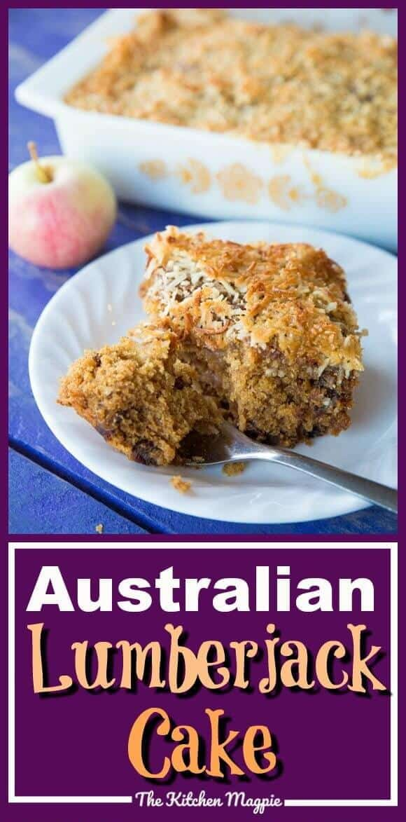 Australian Lumberjack Cake! This rich, moist cake is loaded with dates & apples and is honestly unlike any other cake you have ever tried! #cake #Australian #apples #recipe
