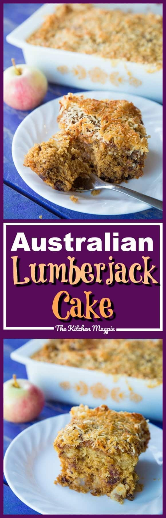 Australian Lumberjack Cake! This rich, moist cake is loaded with dates & apples and is honestly unlike any other cake you have ever tried! Recipe from @kitchemagpie. #dessert #cake #Australian #apples #recipe
