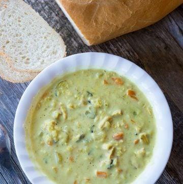 Crockpot/Instant Pot Cream of Chicken & Wild Rice Soup (Panera Copycat)