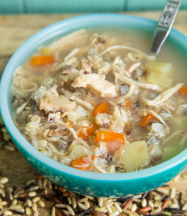 Instant Pot/Slow Cooker Chicken & Wild Rice Soup – No Cream/Milk