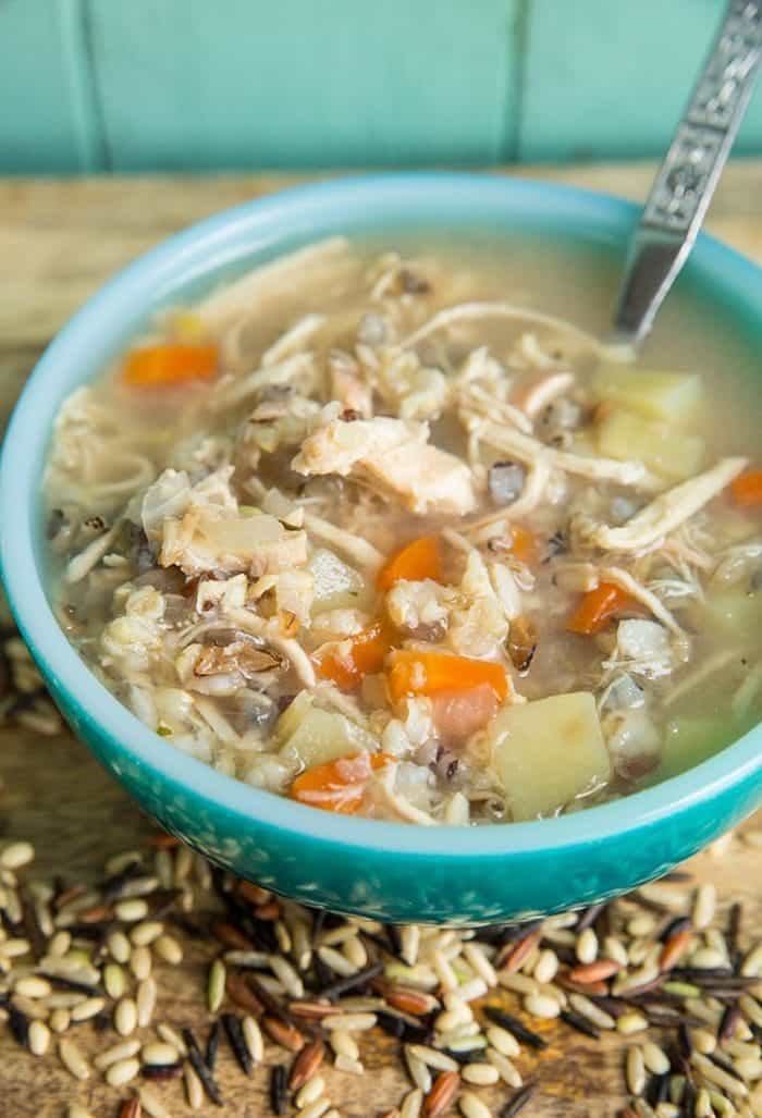 Instant Potslow Cooker Chicken Wild Rice Soup No Creammilk