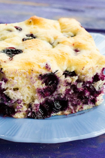 Lemon Blueberry Overnight Breakfast Cake
