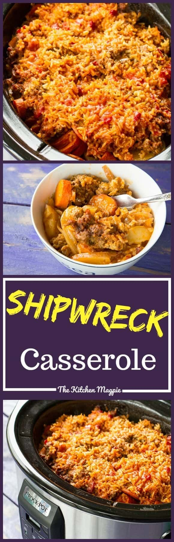 Shipwreck Casserole! This quick and easy classic can also be done in your slow cooker! Recipe from @kitchen magpie. #recipe #crockpot #slowcooker #supper