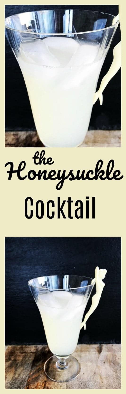 The Honeysuckle cocktail is a simple three ingredient cocktail that anyone can make. It consists of Rum, honey and lemon juice. From @kitchenmagpie