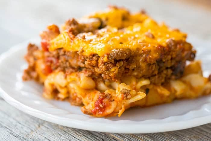 Johnny Marzetti Casserole (Ground Beef Recipe)