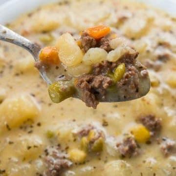 Creamy Potato & Hamburger Soup