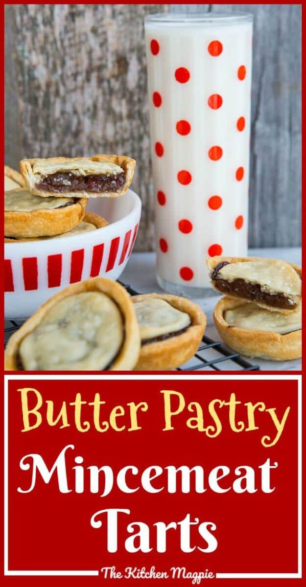 Mincemeat Tarts with Butter Pastry Recipe! These delicious holiday treats are so easy to make! #christmas #dessert #mincemeat #tarts