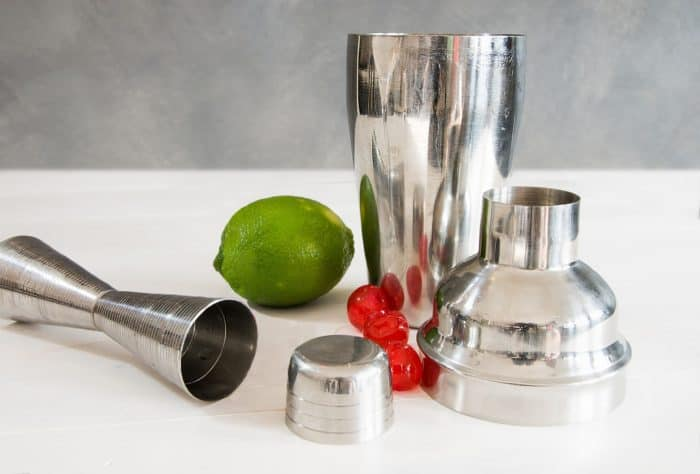 Vodka Cocktail Mixer Set and a Piece of Lime