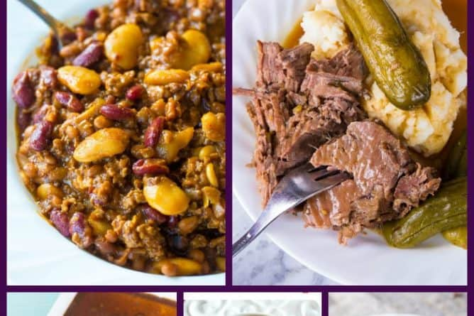 Collage of beef Instant Pot Dinners