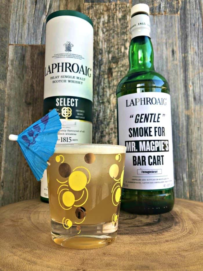 Pineapple Peat - A Peated Scotch Cocktail featuring Laphroaig Select.