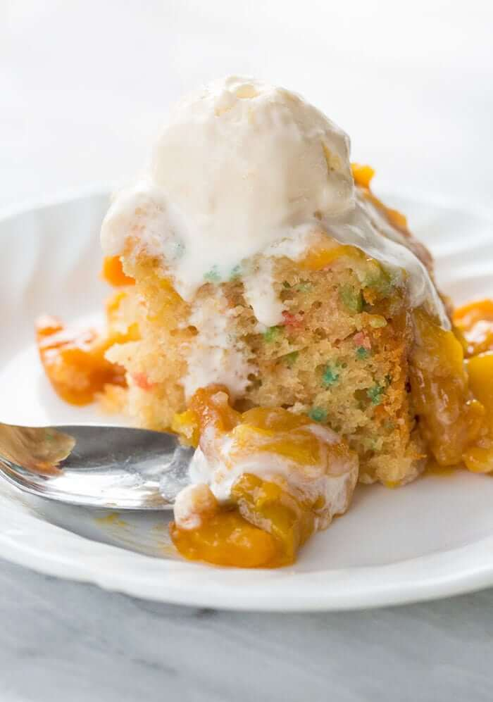 Peachy Slow Cooker Cake