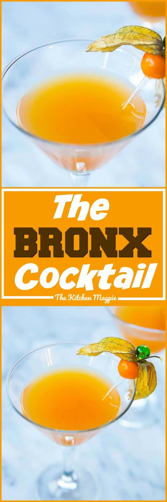 The Bronx Cocktail! Tasty and strong, this is one delicious cocktail! #cocktails #recipe #gin #vermouth #thebronx
