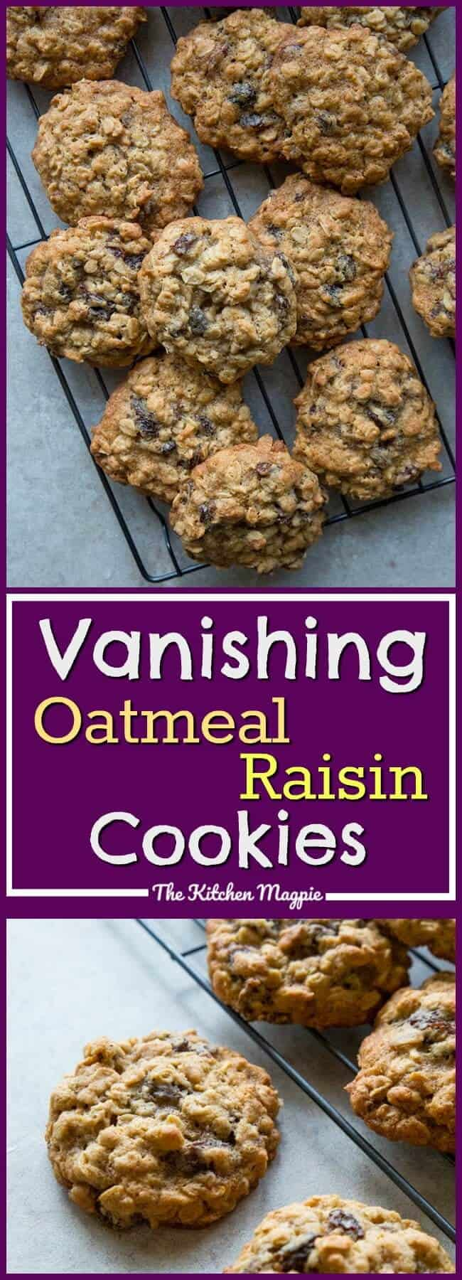 Dad S Vanishing Oatmeal Raisin Cookies Right Off The Quaker Oatmeal