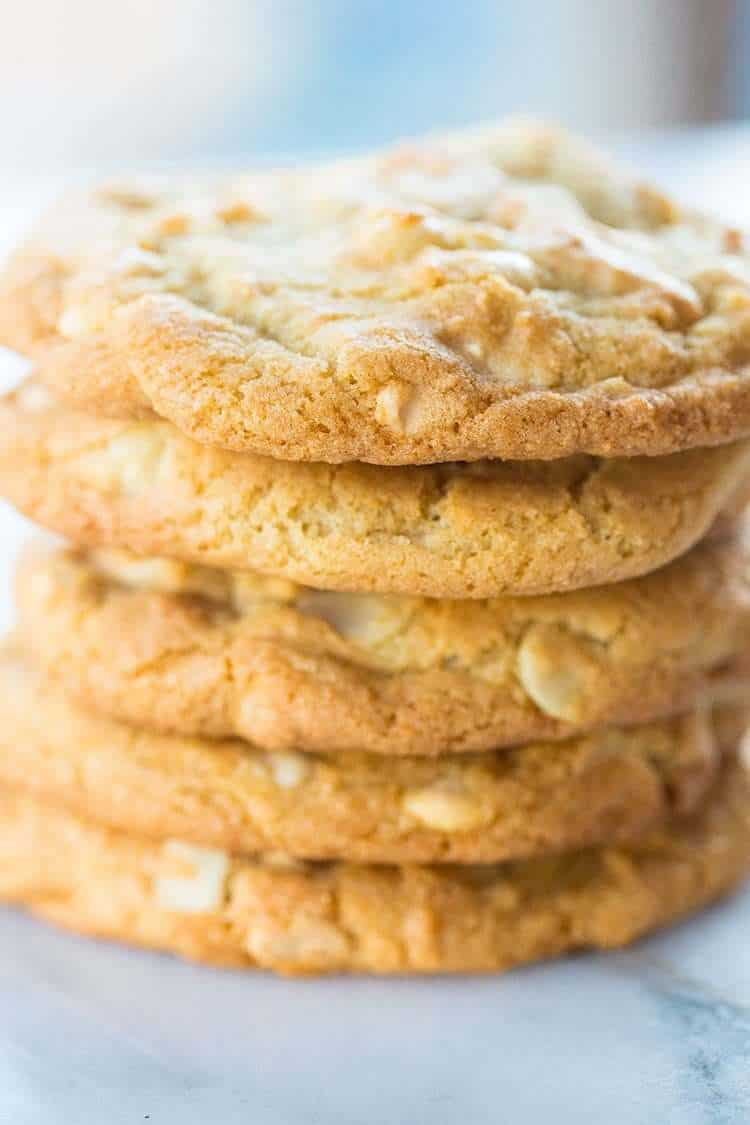 Thick Amp Chewy White Chocolate Chip Macadamia Nut Cookies