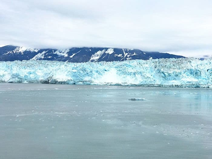 A large and long view of Hubbard Glacier