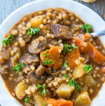 Beef & Barley Stew : Slow Cooker or Instant Pot