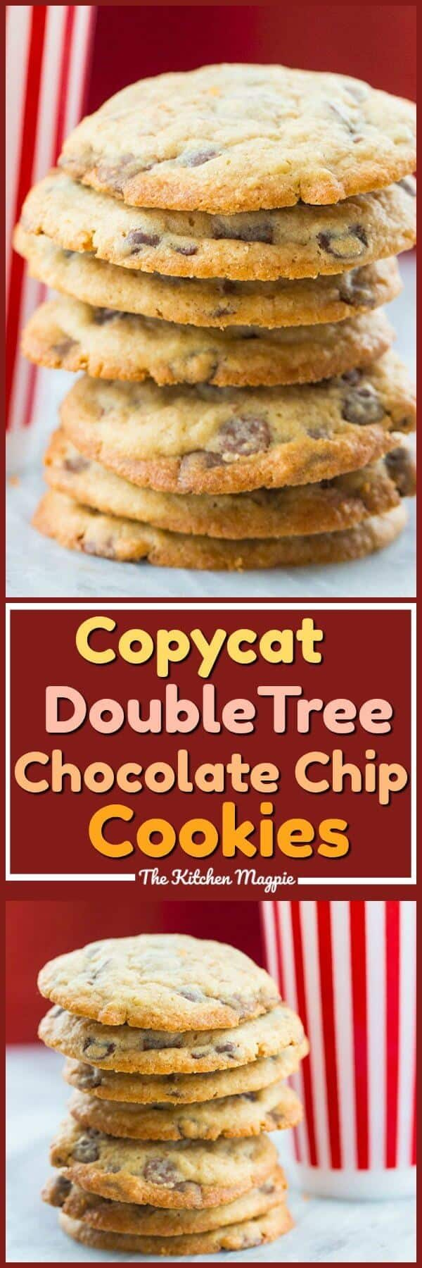 Copycat DoubleTree Hotel Chocolate Chip Cookies Recipe! If you have ever stayed at the DoubleTree by Hilton hotel chain you'll know that they are famous for their warm chocolate chip cookies upon your check in to the hotel! Now you can make them at home! #cookies #copycat #chocolatechip #chocolate