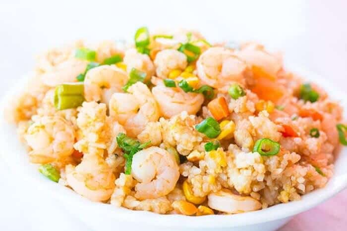 This fast and easy shrimp fried rice will become a supper favourite! It's so easy you can make it during the week and it's easy to customize to your liking by switching up the vegetables.