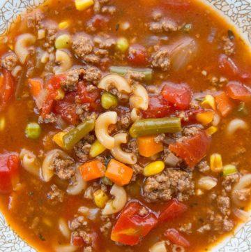 Hamburger Soup With Macaroni