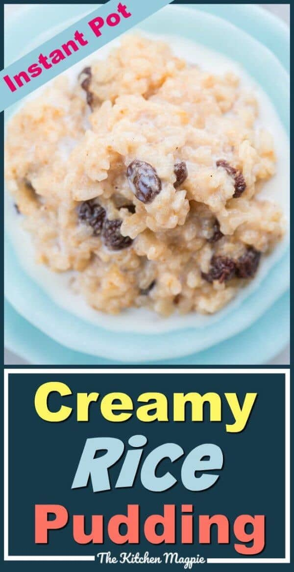 How to make the best, creamiest and perfect Instant Pot Rice pudding! This is so fast you'll be eating it for breakfast! #InstantPot #rice #dessert #pudding