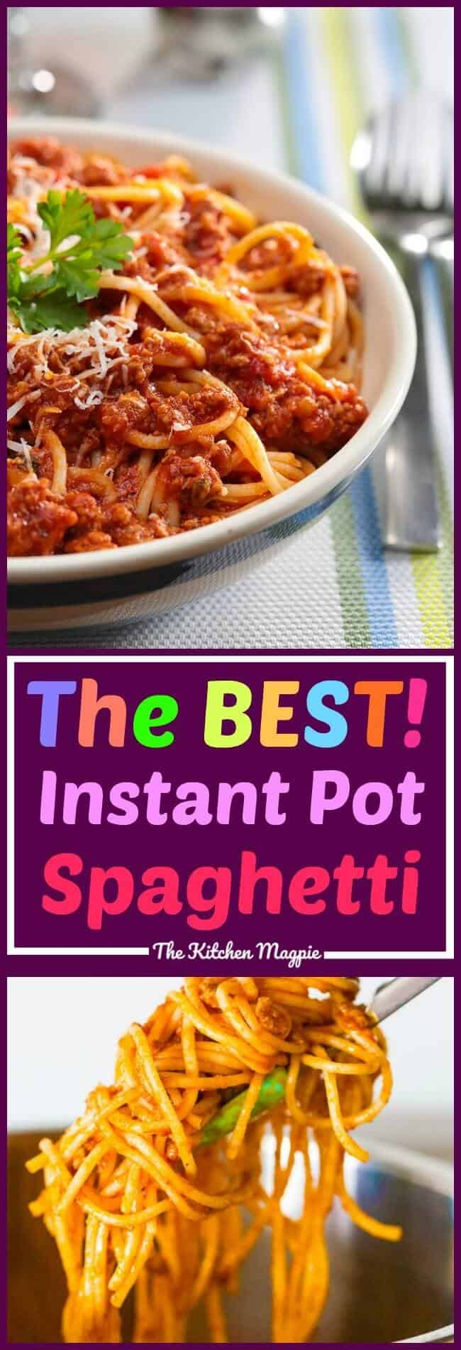 My Instant Pot Spaghetti is the best ever! It has one (or two!) secret ingredients that make ALL the difference! #recipe #instantpot #pressurecooking #spaghetti #supper #dinner