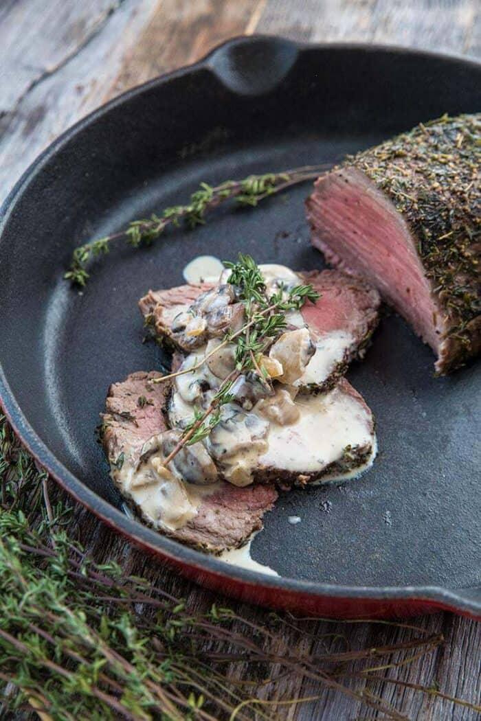 Tenderloin Roast au Poivre & Mushroom