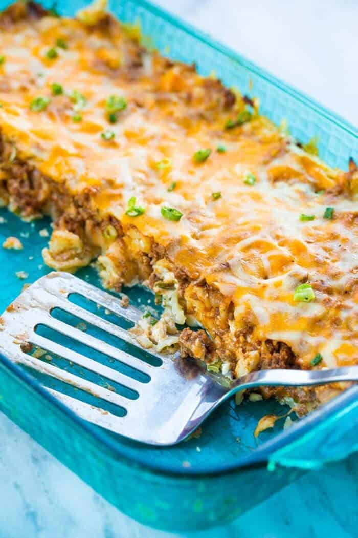 Sour Cream Ground Beef Noodle Casserole