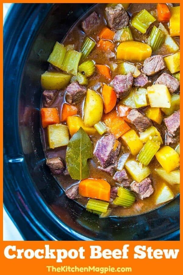 Simple and Delicious Crockpot Beef Stew Recipe. Beef stew doesn't have to be hard or fancy - this easy stew will be a hit with your entire family! #crockpot #beef #stew #slowcooker #recipe #vegetables #dinner #easyrecipe #beefstew