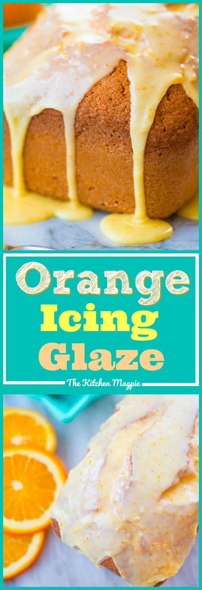 How to Make an Orange Icing Glaze for your cakes, sweet breads, cupcakes and more! It's so simple and easy - and orange is SO under loved when it comes to baking! Well, not anymore! #orange #recipes #baking #dessert #icing