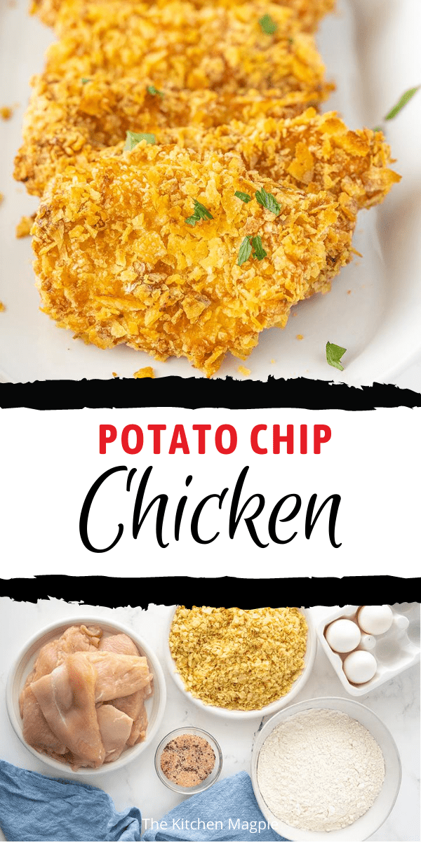 How to make amazing oven baked potato chip chicken just like your Grandma used to make! This is a classic oven baked chicken recipe!
