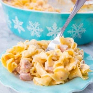 Creamy Ham and Noodle Casserole